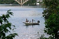 Fishing on Lake Taneycomo